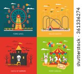 funfair design concept set with ... | Shutterstock .eps vector #361336274