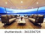 Yacht On Sunset