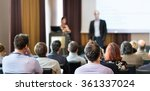 audience in the lecture hall. | Shutterstock . vector #361337024
