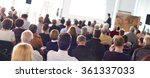 audience in the lecture hall. | Shutterstock . vector #361337033