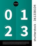 typographic alphabet in a set... | Shutterstock .eps vector #361338104