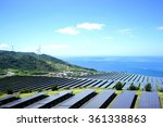 solar panels and wind...   Shutterstock . vector #361338863