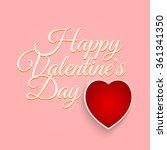 valentines day vintage... | Shutterstock .eps vector #361341350