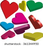 many colorful 3 dimensional... | Shutterstock .eps vector #361344950