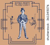 retro party design with old... | Shutterstock .eps vector #361345076
