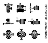 water pump black icons sets.... | Shutterstock .eps vector #361352933
