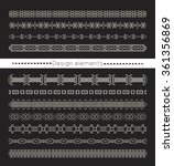 vector line border set and... | Shutterstock .eps vector #361356869