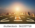 helipad on the roof of... | Shutterstock . vector #361357718