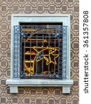 classic style window on the... | Shutterstock . vector #361357808