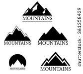 mountain logo set isolated on...   Shutterstock .eps vector #361358429
