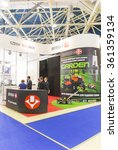 Small photo of MOSCOW-AUGUST 24, 2015: Booth automotive spark plugs BRISK the Czech Republic at the International Trade Fair Automechanika