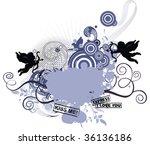 grunge background for valentine'... | Shutterstock .eps vector #36136186