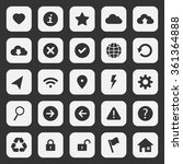 web design icon set 7 | Shutterstock .eps vector #361364888