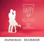 happy valentine's day | Shutterstock .eps vector #361366028