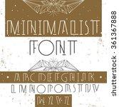 modern stylish alphabet for... | Shutterstock .eps vector #361367888