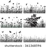 collection of silhouettes of... | Shutterstock .eps vector #361368596