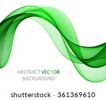 bright wave on a light... | Shutterstock .eps vector #361369610