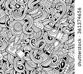 cartoon hand drawn doodles on...   Shutterstock .eps vector #361374656