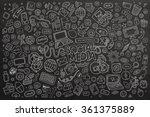 vector chalkboard line art... | Shutterstock .eps vector #361375889