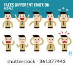 man faces showing different... | Shutterstock .eps vector #361377443