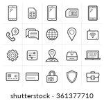 mobile network operator or... | Shutterstock .eps vector #361377710