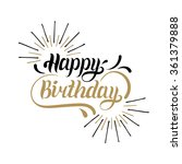 vector happy birthday hand... | Shutterstock .eps vector #361379888