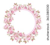 watercolor wreath. it can be... | Shutterstock . vector #361380530
