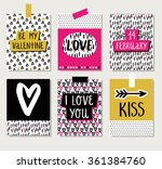 love collection with 6 cards in ... | Shutterstock .eps vector #361384760
