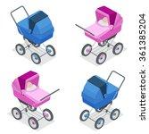 baby pram  pushchair  stroller  ... | Shutterstock .eps vector #361385204