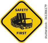 truck safety.driver... | Shutterstock .eps vector #361386179