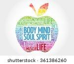 body mind soul spirit apple... | Shutterstock .eps vector #361386260