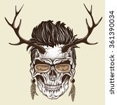 hipster skull of human with...   Shutterstock .eps vector #361390034
