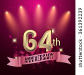 64th anniversary  party poster  ... | Shutterstock .eps vector #361392239