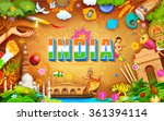 illustration of india... | Shutterstock .eps vector #361394114