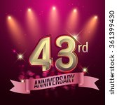 43rd anniversary  party poster  ... | Shutterstock .eps vector #361399430