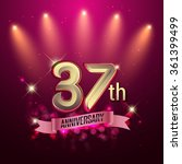 37th anniversary  party poster  ... | Shutterstock .eps vector #361399499