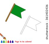 Flag In Vector Cartoon To Be...
