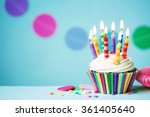 Colorful Birthday Cupcake With...