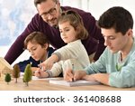 pupils taking notes during... | Shutterstock . vector #361408688