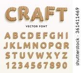 vector cardboard letters.... | Shutterstock .eps vector #361411469