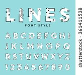 vector trendy flat font with... | Shutterstock .eps vector #361411538