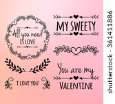 happy valentines day and... | Shutterstock .eps vector #361411886