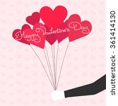 balloons in shape of heart.... | Shutterstock .eps vector #361414130