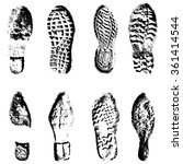collection  imprint soles shoes ... | Shutterstock .eps vector #361414544