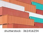 Colorful Stack Of Container...