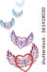 valentine. multicolored hearts... | Shutterstock .eps vector #361418030