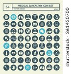 64 medical and healthy care... | Shutterstock .eps vector #361420700