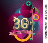 36th anniversary  party poster  ... | Shutterstock .eps vector #361421888