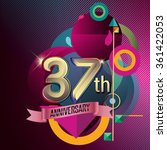 37th anniversary  party poster  ... | Shutterstock .eps vector #361422053