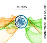 republic day card with modern... | Shutterstock .eps vector #361423604